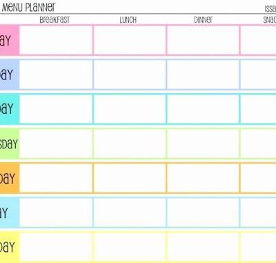 30 Awesome 7 Day Menu Planner Template Images