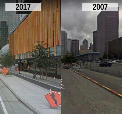 Before and after photos show how Amazon has completely transformed Seattle in a decade