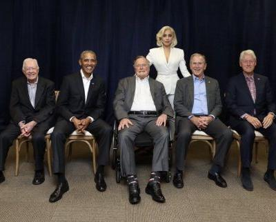 Watch Lady Gaga Play to the Five Ex-Presidents at the One America Telethon