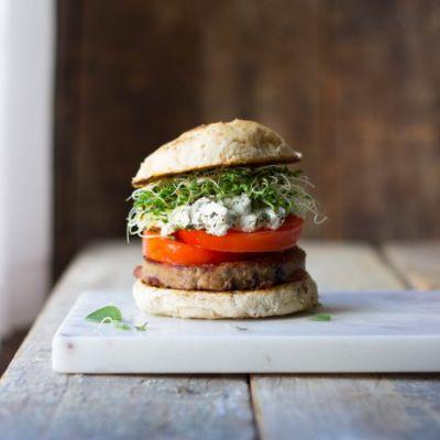Herbed Goat Cheese Burgers