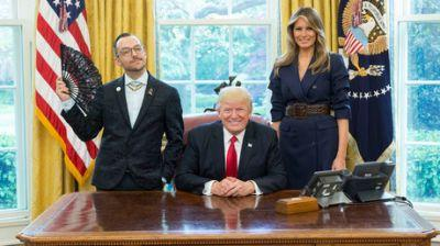 'Visibly queer' teacher of the year Oval Office photo with Trumps becomes instant viral hit