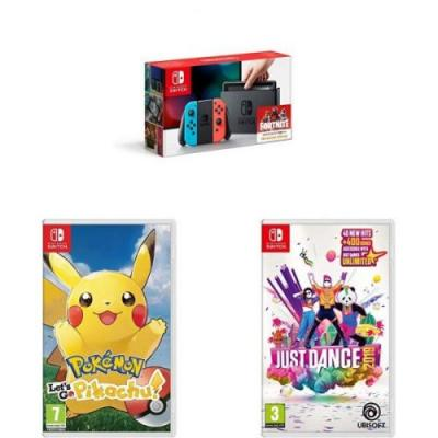 Here's a Nintendo Switch with Pokémon Let's Go Pikachu and Just Dance 2019 for £300