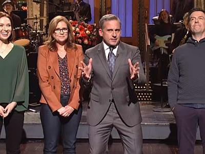 The Office Stars Reunited On SNL To Push Steve Carell For A Reboot