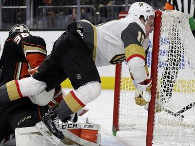 Ducks top Golden Knights for 4th win in 5 road games