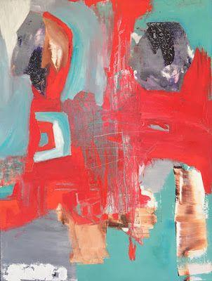 """Contemporary Art, Abstract,Expressionism, Studio 9 Fine Art """"Turning Towards Peace"""" by International Abstract Artist Amanda Saint Claire"""