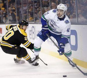 Bergeron leads Bruins over Canucks 6-3 with goal, 3 assists