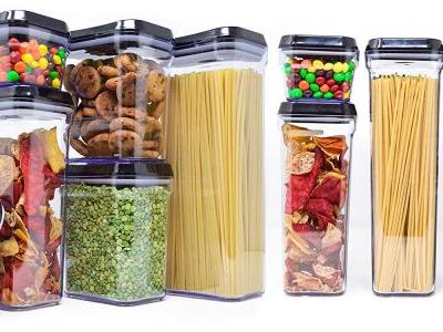 I organized my kitchen pantry with these matching containers - and took the most satisfying before-and-after photos