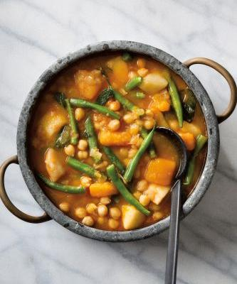 Winter Squash, Potato, Pear and Chickpea Stew