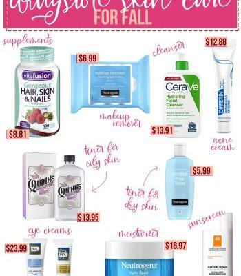 Dermatologist Recommended Drugstore Skin Care for Fall