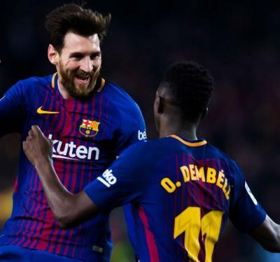 'Best in history' Messi lauded by Barcelona colleagues Coutinho & Busquets