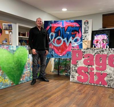 Realtor-turned-artist Gary Rosen brings Page Six-themed piece to Art Basel