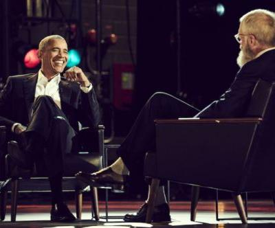 As David Letterman's first Netflix guest, Barack Obama warns against the 'bubble' of social media