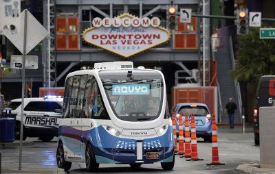 Driverless shuttle is new thrill in downtown Las Vegas
