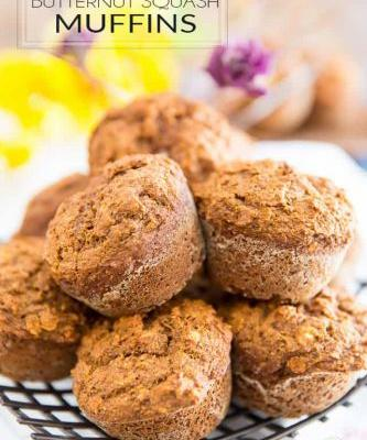 Whole Wheat Spiced Butternut Squash Muffins