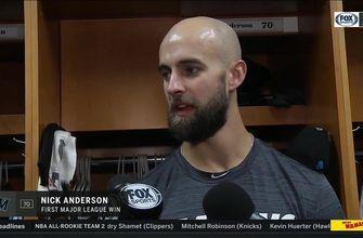 Marlins RHP Nick Anderson talks about his first major league win