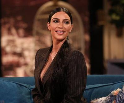All Black Everything! Kim Kardashian Wears A Bra And Leather Pants While Out To Dinner In Calabasas