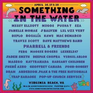 Pharrell announces Something in the Water Festival, featuring Travis Scott, DMB, Missy Elliott