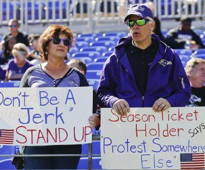 Ravens fans boo hell out of own team for pre-anthem statement