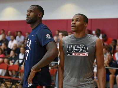 LeBron James Training With Russell Westbrook and Chris Paul