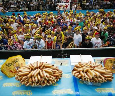 Joey Chestnut easily wins eleventh Nathan's Hot Dog Eating Contest