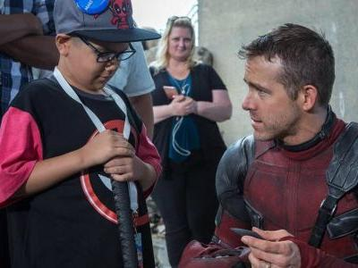 Ryan Reynolds Shares Deadpool 2 Set Photos From Make-a-Wish-Visit
