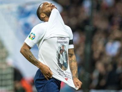 England's Raheem Sterling could face action for post-goal tribute