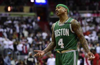 Celtics' Thomas out for rest of playoffs with hip injury