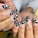 20 Black-and-White Nail Art Ideas That Will Match Any Outfit