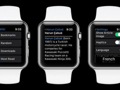 MiniWiki unofficial Wikipedia Apple Watch app adds 'Random' articles, independent language
