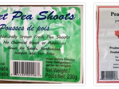 Canada again expands recall of pea shoots because of Listeria