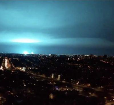 WATCH: Sky Above New York City Turns Teal Blue Following Power Plant Explosion