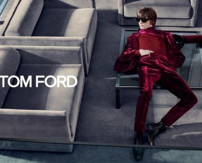 Erik van Gils & Alexandre Cunha Front Tom Ford's Glam Fall '19 Campaign