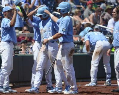 Tar Heels knock out Heimlich early, beat Beavers 8-6 in CWS