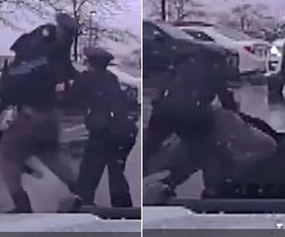 Eastern Kentucky's Michael Harris bodyslams police officer during arrest