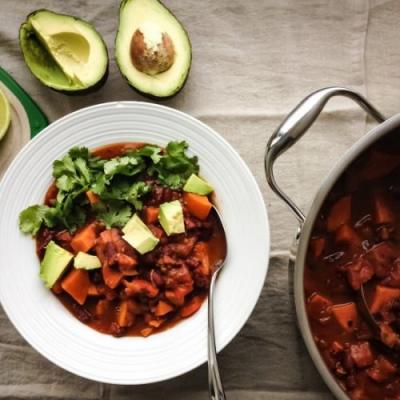 Vegan Sweet Potato Bean Chili