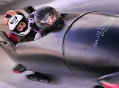 Bobsled with an Olympian, Utah, US