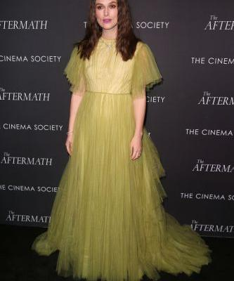 Keira Knightley Was a Dream in Green at 'The Aftermath' New York Screening