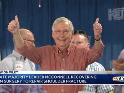 Mitch McConnell undergoes surgery to repair shoulder fracture
