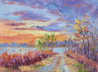 Dawn's Breaking Color, New Contemporary Landscape Painting by Sheri Jones