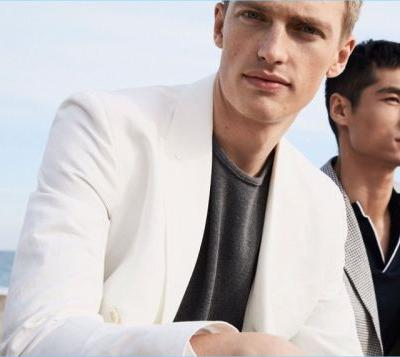 Changing Times: Victor Nylander & Hao Yun Xiang Model Massimo Dutti's Spring Styles