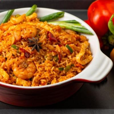 Spicy Chicken and Prawn Fried Rice