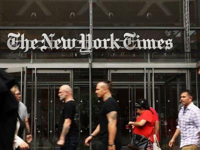 The New York Times used a full page to print an editorial calling on Republicans to stand up to Trump