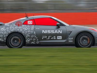 Full-Size Nissan GT-R R/C Car Driven By A PlayStation Controller Laps Silverstone