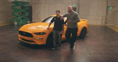 Dwayne Johnson Surprises Injured Veteran With A 2018 Mustang