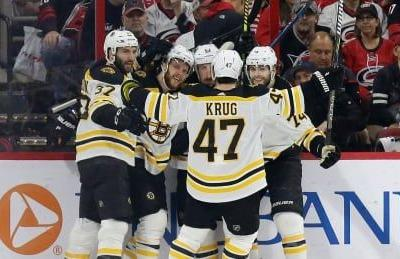 Bruins sweep Hurricanes to secure spot in Stanley Cup final