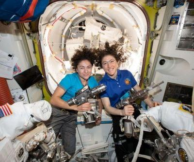 Watch two NASA astronauts conduct the first all-female spacewalk in history