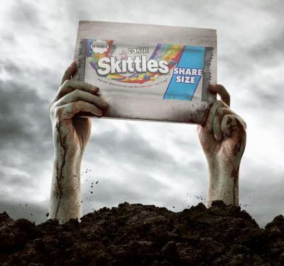 Skittles's 'Rotten Zombie'-Flavored Halloween Candy Is Punishment for Our Sins