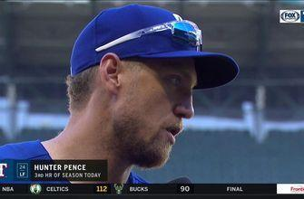 Hunter Pence on his big game, Rangers 14-1 Win over Seattle