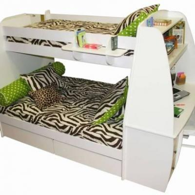 20 Luxury White Bunk Beds with Desk Images