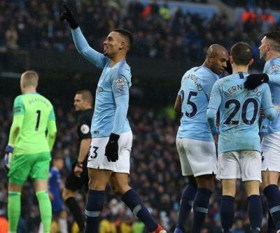 Watch: Man City's Gabriel Jesus scores twice in win vs. Everton